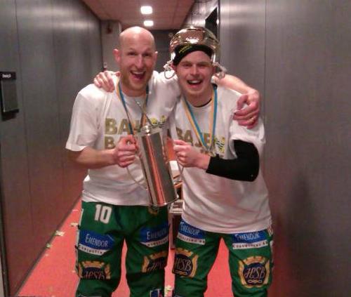 2013 SM-GULD HAMMARBY - Stefan Xet Erixon och Adam Gilljam.